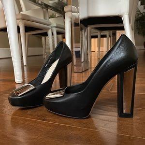 Christian Dior Black Leather Mirror Pumps